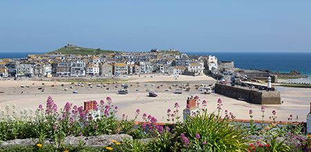 looking over st ives cornwall